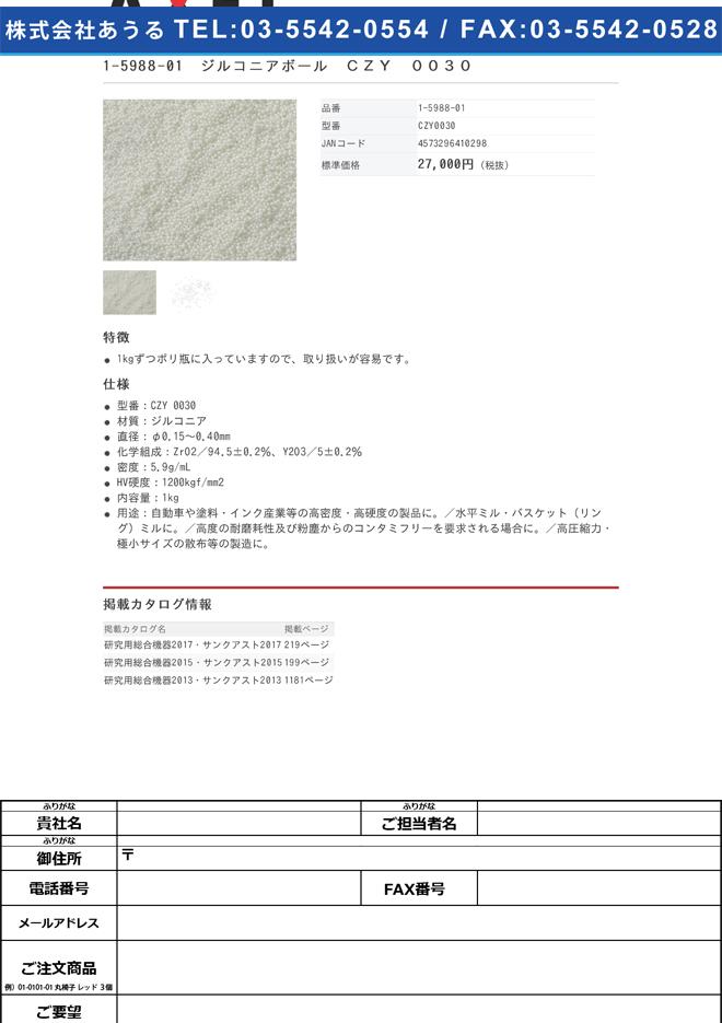1-5988-01 ジルコニアボール CZY 0030