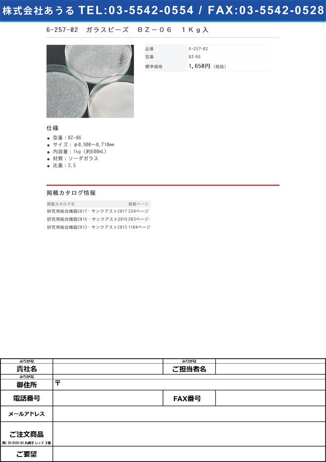 6-257-02 ガラスビーズ 1Kg入 BZ-06