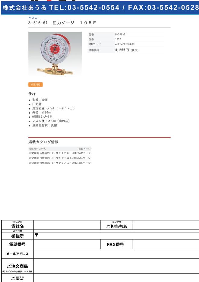 8-516-01 圧力ゲージ 105F